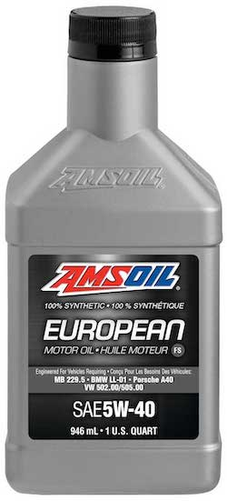 AMSOIL European Car Formula 5W-40 Classic Emissions System Protection Synthetic Oil