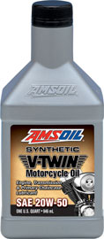 20W-50 Synthetic V-Twin Motorcycle Oil (MCV) 20W50